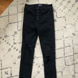 Abercrombie skinny ankle ripped jeans